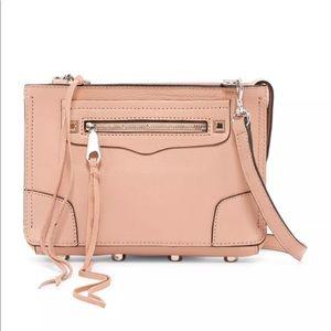 Rebecca Minkoff Regan Nude Leather Crossbody Bag